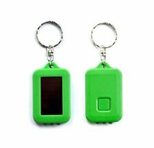 Solar Power LED Flashlight Keychain- GREEN