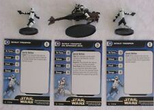 Star Wars Miniatures REBEL STORM SCOUT TROOPER / SPEEDER (UR)(C) Figures - Used