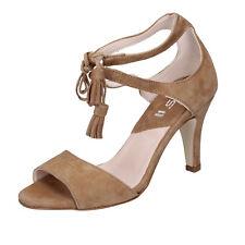 scarpe donna KEYS 37 EU sandali marrone camoscio BT990-37