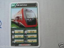22 SUPER TRAIN B4 BR 618 LIREX TREIN KWARTET KAART, QUARTETT CARD