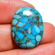 14.6 Ct. Blue Copper Turquoise Oval Cabochon Loose Gemstone 23X17X5 mm F-3650