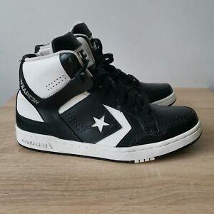 Converse Weapon Mid Top Larry Bird Shoes Black White 144545C Mens Size- 8