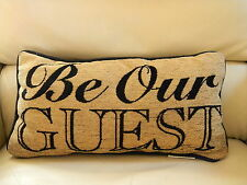 Disney Parks Beauty and the Beast BE OUR GUEST Accent Throw PILLOW Lumbar NEW