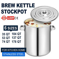 Stainless Steel Stock Pot with Lid Kitchen Soup Cooking Stockpot Cookware