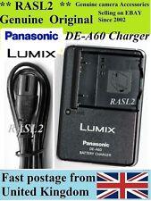 Genuine Panasonic Lumix CARICABATTERIE de-a60 dmc-fp8 dmc-ft1 dmc-ft2 dmc-ft3 dmc-ft4