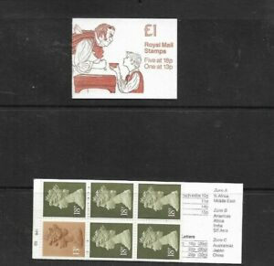 GB 1988 Charles Dickens #1 Folded £1 Stamp Booklet - FH13 - Cyl Nos B5 B41