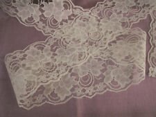 Ivory Lace, 4 In Wide, 6 YARDS, Flat Lace, Galloon Lace, Bridal Accessories
