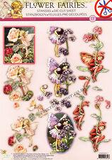 Rose Flower Fairy Die Cut 3D Decoupage Sheet Card Making Paper Craft NO CUT