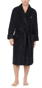 Tommy Bahama Men's Soft Plush Robe Color Black Size S/M