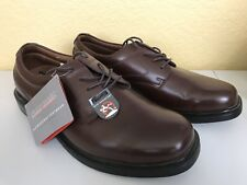 Nunn Bush Size 10.5 M Brown Leather Oxfords Slip Resistant Soles New Mens Shoes