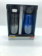 2 pack Contigo Autoseal Water Bottle 32oz ea  Sangria/Juniper. Free Shipping NIB