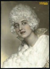 Larger size hand colored Photograph, amazing portrait of woman 1920's