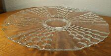 "Elegant Depression Glass Honeycomb/Beehive Pattern 14"" Clear Glass Platter"