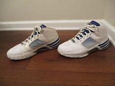 Used Worn Size 11.5 Adidas Mad Clima Basketball Shoes White Blue