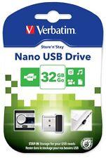 Verbatim Store 'n' Permanezca Nano 32gb USB 2.0 MEMORIA FLASH PEN DRIVE - Negro