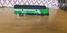 """O"" Atlas 2 Rail DC Burlington & Northern  F-9 Diesel...Runs..but issues"