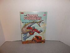 The Transformers Coloring Book Search for Treasure Under the Sea 1984 Clean & Un