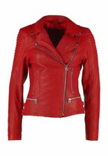Women's Genuine Lambskin Leather Jackets Motorcycle Slim Fit Stylish Jacket WJ22