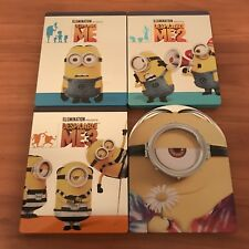 Despicable Me 1 2 3 Minions Steelbooks Complete Blu-ray Lot Collection