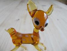 Vintage Miniature Glass Animal, Murano Deer Bambi Figure