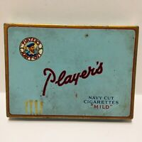 Vintage NAVY CUT Mild Players Tobacco Cigarettes Metal Tin - Used