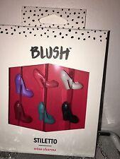 True Brands Blush Stiletto Heel Wine Glass Charms / Drink Markers - Set of 6