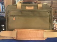 HARTMAN Laptop Computer Portfolio Messenger Business Bag Legal Size Leather Trim