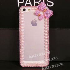 Bling Crystal Diamond Thin Clear Soft TPU Back Shell Case Cover For Samsung