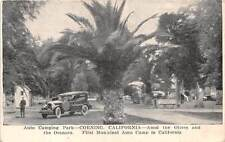 CORNING, CA, DOUBLE PC, AUTO CAMPING PARK WITH USAGE RULES, c. 1920-1930's