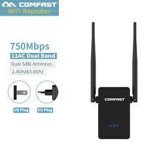 750Mbps 2.4/5.8G Wireless Repeater SKY WiFi Booster Range Extenter Signal Wps