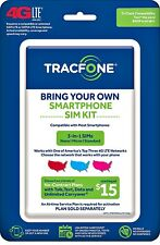 Tracfone Bring Your Own Phone Sim Activation Kit Triple Punch Micro Nano Byop
