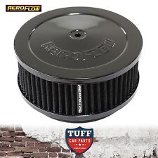 """Aeroflow Black Air Cleaner Assembly 6-3/8"""" x 2.5"""" with Washable Filter Element"""