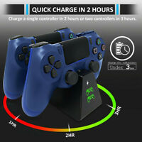 For PS4 Controller Charger DualShock 4 USB Charging Station Dock PS4/ Slim / Pro