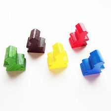 NEW Carcassonne Replacement / Expansion Parts Abbot Meeples Set of 5x Followers