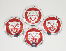 4Pcs 56.5mm Car Wheel Center Hub Cap Badge Emblem Sticker Fits for Jaguar Red
