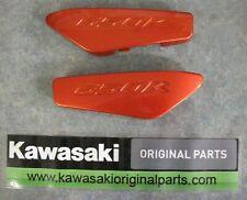 Kawasaki ER6 grab rail infill covers, 2009-2011 models. Candy Burnt Orange