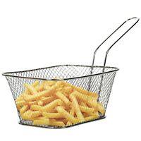 14x11x7cm Non Stick Chrome Metal Deep Frying Basket Chips French Fries Kitchen