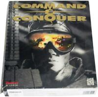 COMMAND & CONQUER 90s Big Box PC VIDEO GAME CD-Rom Westwood 1995 CIB Complete !
