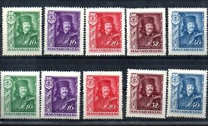 Old  stamps of Hungary 1935   # 517-521 MLH II.Rakoczi Ferenc 2 sets