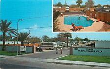 Autos Motor Home 1960s Tempe Travel Trailer Villa Pool Petley postcard 6676