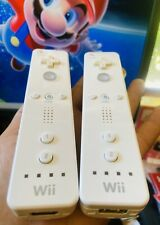 (2) OEM Genuine Authentic Nintendo Wii U Wireless Classic Remote Controllers Lot
