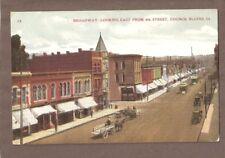 Vintage Postcard 1908 Broadway Council Bluffs Iowa