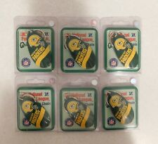6 New Green Bay Packers Nfl Key Chains, Metal Spinner Bait fishing lure blade