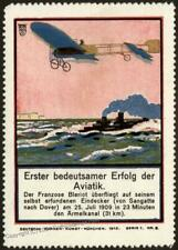 Germany 1912 Deutsche Kunst Art Advertising Airplane Original Poster Stam 102867