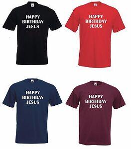 HAPPY BIRTHDAY JESUS Xmas Christmas Jumper Funny Secret Santa Gift Party TShirt