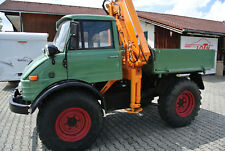 Unimog 403 A Bauj. 3-1971 mit Atlas Ladekran Typ AK 1400 U