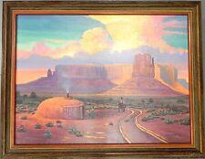 "Teddy Draper Navajo Original Oil Painting ""WILD SKIES"" Award Winning Artist"