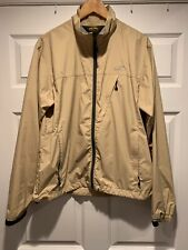 GoLite Lightweight Tan Khaki Windstoper Jacket Mens Large Mint