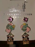 New Disney Parks Fantasyland Dumbo Carousel Horse 3 Earrings Set Magic Kingdom