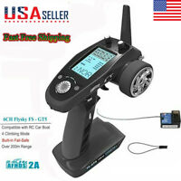 USA FlySky FS-GT5 2.4G 6CH AFHDS RC Transmitter w/ Receiver for RC Car Boat